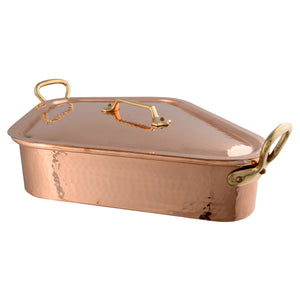 Mauviel M'Tradition Hammered Copper Turbot Kettle