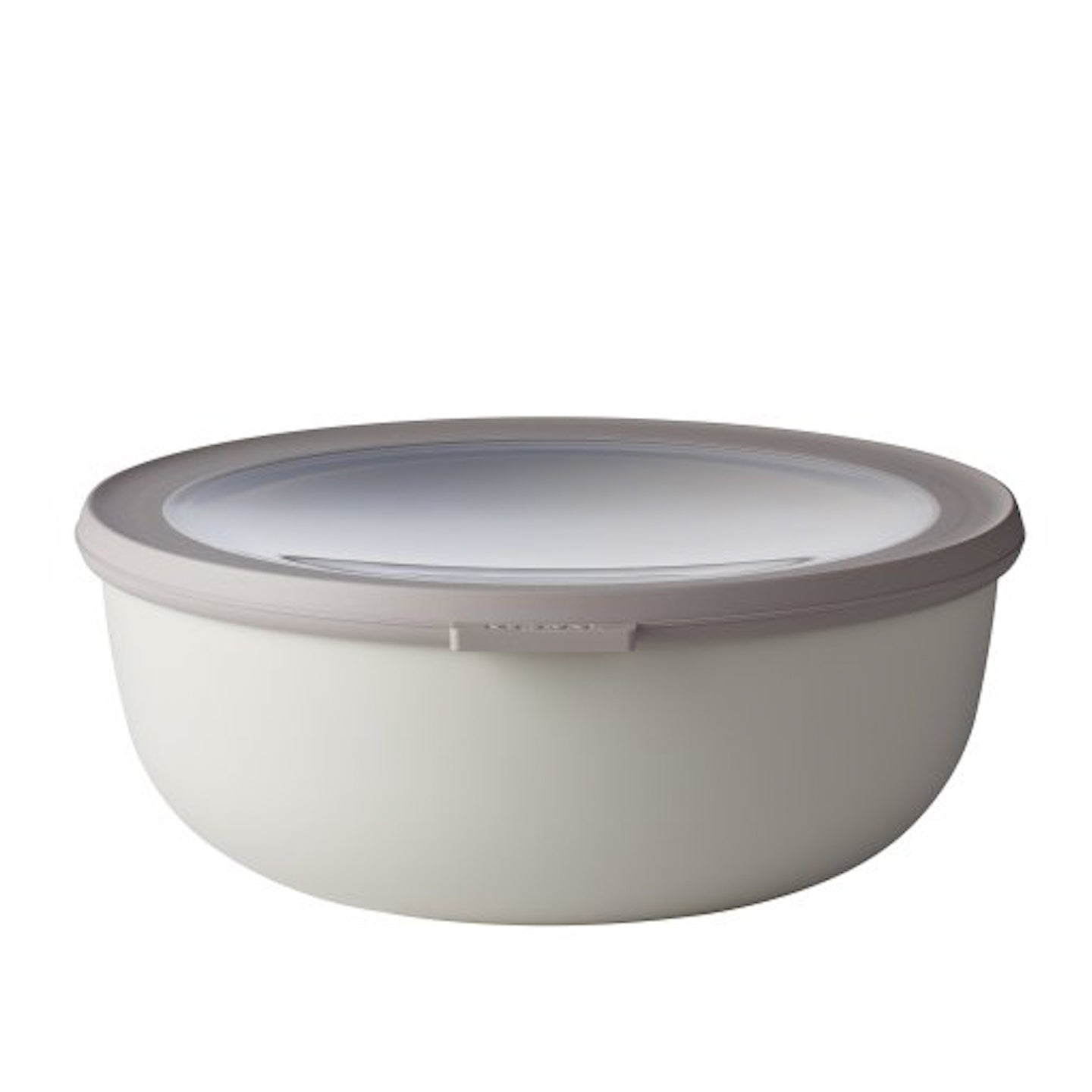 Mepal Cirqula Mixing Bowl with Lid / Nordic White / 2250ml