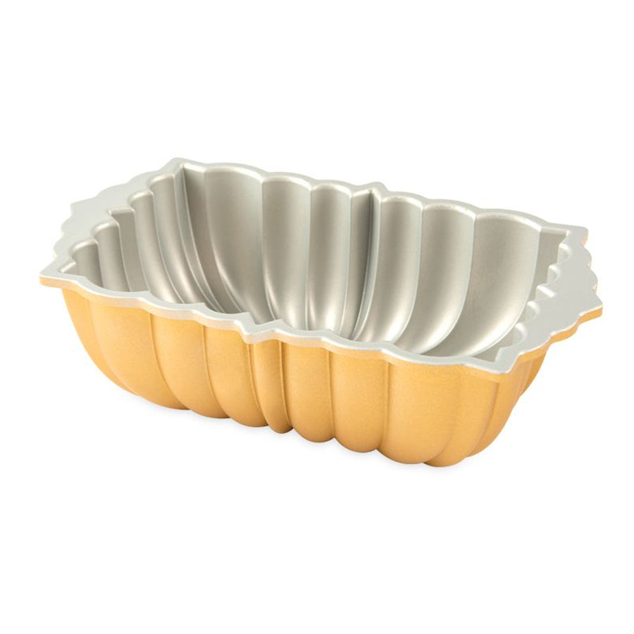 NordicWare Classic Fluted Loaf Pan Gold