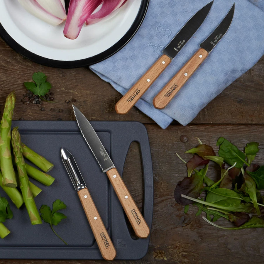 Opinel Wooden Handle Prep Knife Set