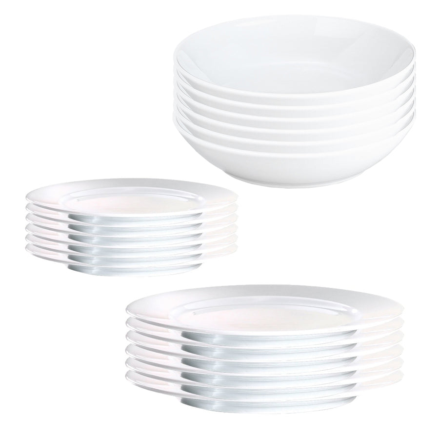 Pillivuyt Sancerre 18 Piece Dinner Set with Coupe Pasta Bowl (2nds)