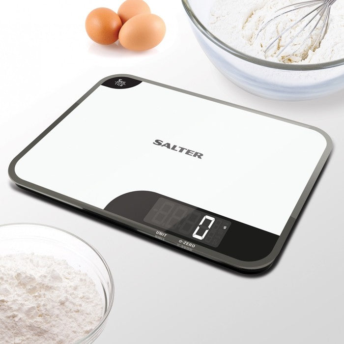 Salter Mini Max Digital Kitchen Scale / White / 5kg