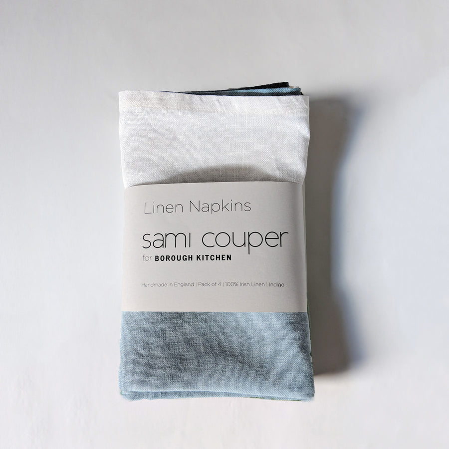 Sami Couper Linen Napkins Pack of 4 / 47x47cm / Indigo *
