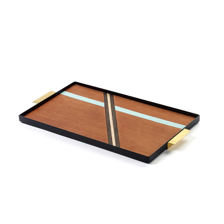 Serax Tray with Brass Handle / 44.5x24.5x2.5cm