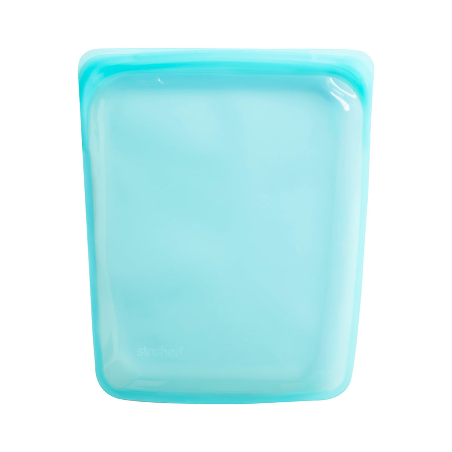 Stasher Reusable Silicone Bag / 26x21.5x4cm / 1.9L / Aqua