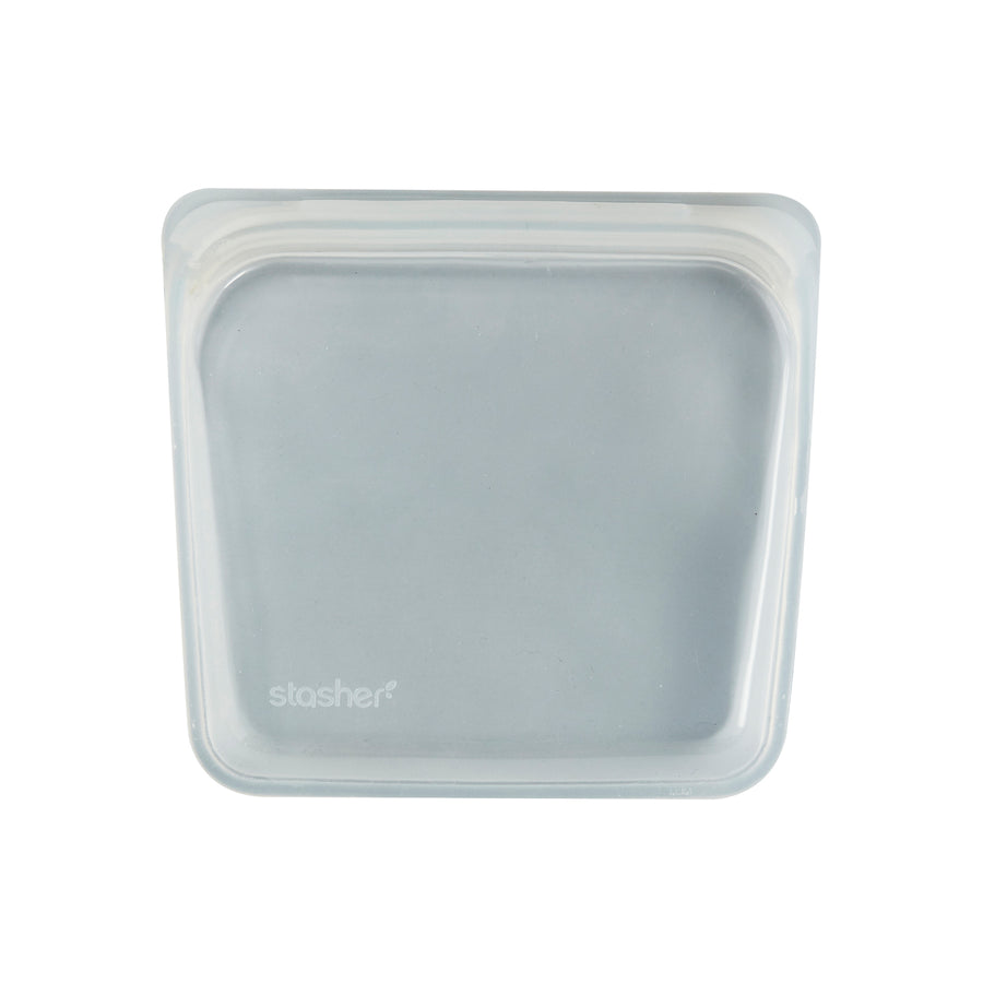 Stasher Reusable Silicone Bag / 19x18cm / 450ml / Clear