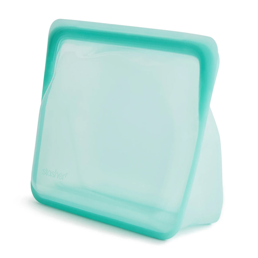 Stasher Reusable Stand Up Silicone Bag / 18x21.5x9cm / 1.65L / Aqua
