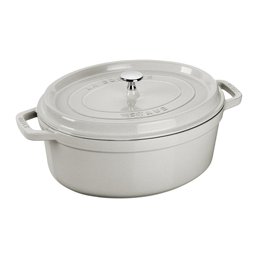Staub Oval Cocotte / White Truffle