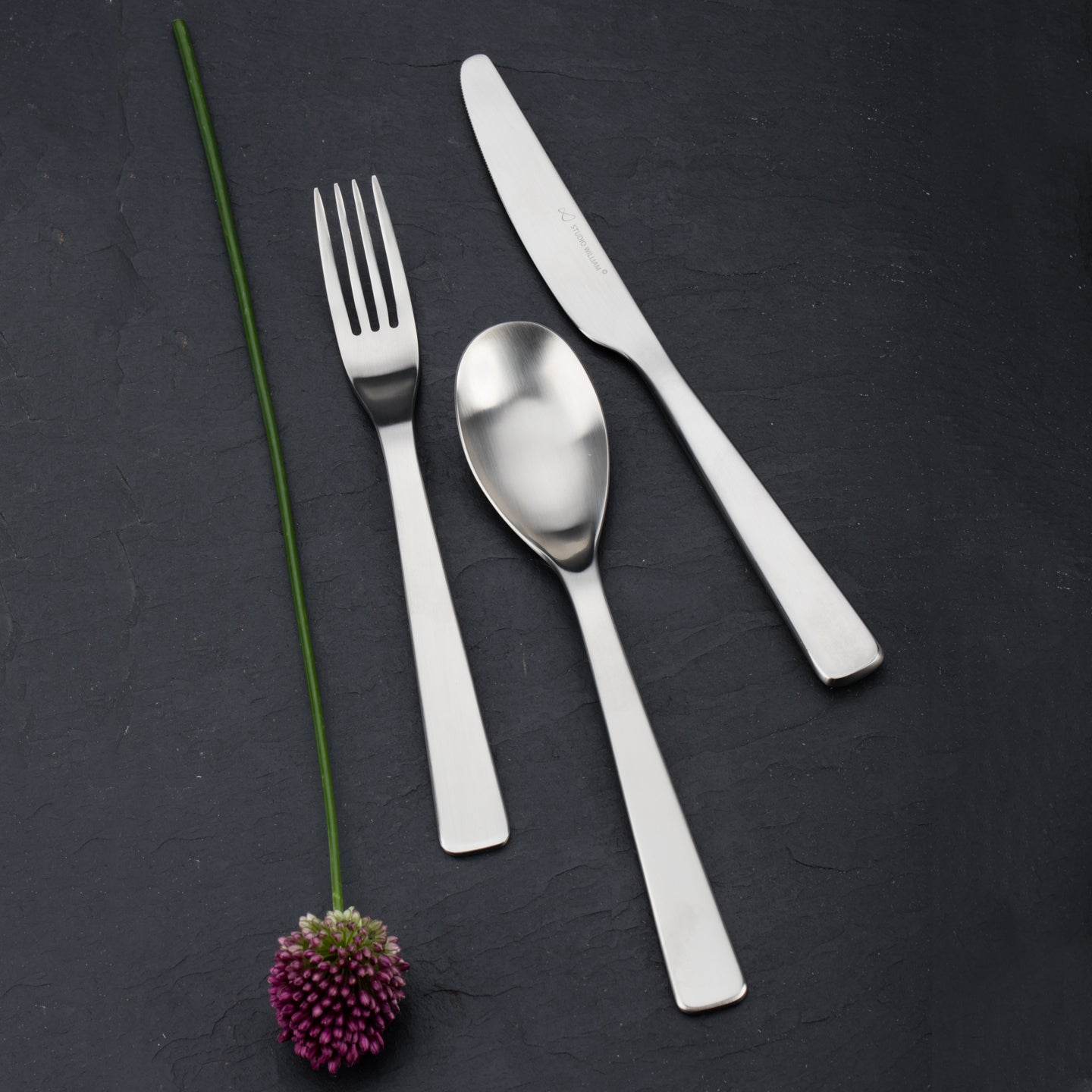 Studio William Baobab Satin 24 Piece Cutlery Set