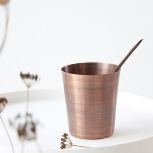 Brushed Copper Water Cup