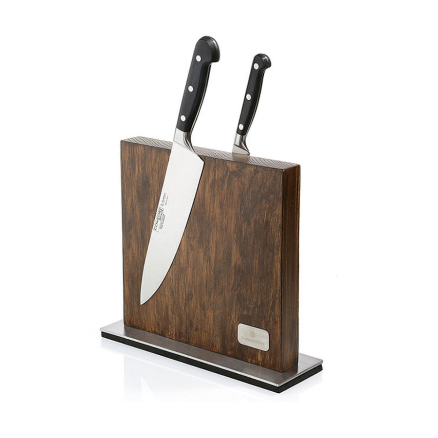 Zassenhaus Magnetic Knife Block with Stainless Steel Stand / 28x25.5cm / Ash