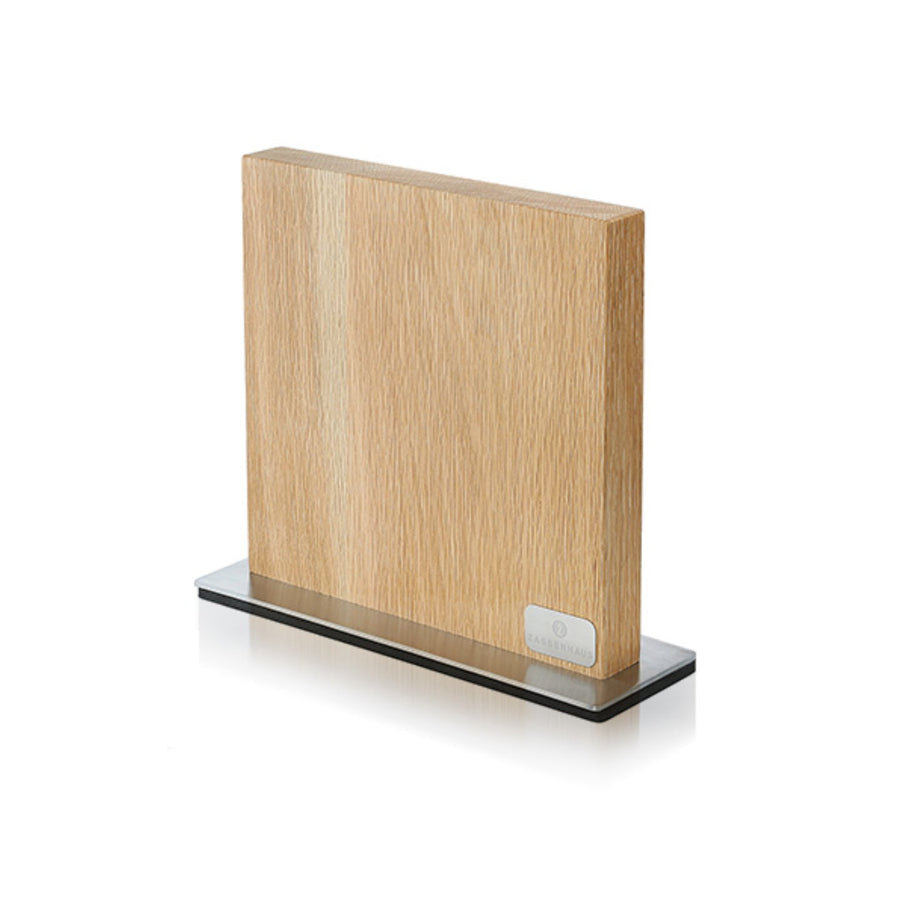 Zassenhaus Magnetic Knife Block with Stainless Steel Stand / 28x25.5cm / Oak