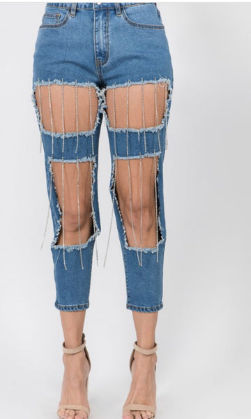 Diamond dripper jeans