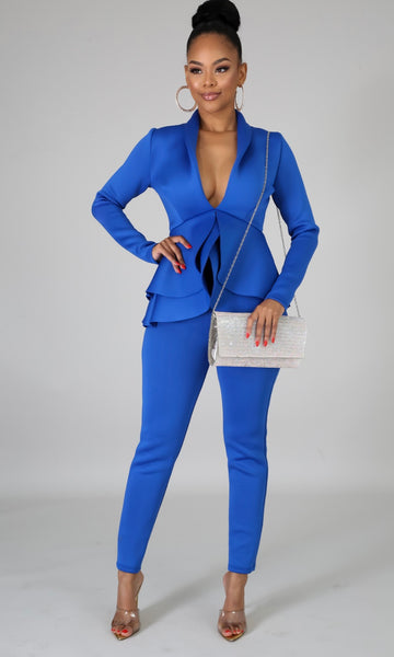 Tulip blazer set(Royal)