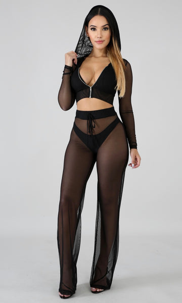 Sheer cover up set