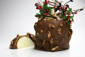 Milk Chocolate Dipped Caramel Apple with Nuts