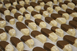 Milk Chocolate Dipped Miniature Biscotti