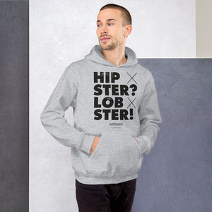 Hipster? Lobster! Hoodie - Unisex - White - SorryIamRich