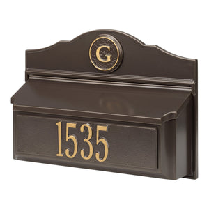 carolina mailboxes nc Colonial Wall Mailbox Pkg 1