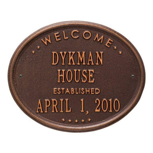 "Welcome Oval Wall Plaque - ""House"""