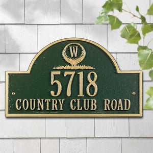 Monogram Golf Arch Wall Plaque