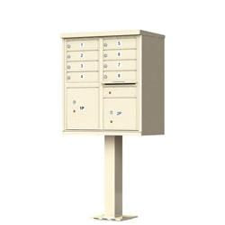 Auth Florence 8-unit pedestal mount standard security cluster box