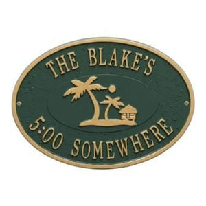 Island Time Palm Wall Plaque