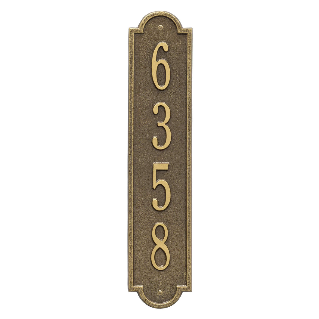 Richmond Vertical - Standard Wall Plaque