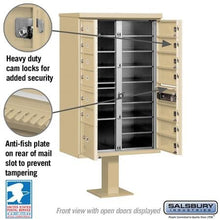 Load image into Gallery viewer, 13-Unit (Type IV) Pedestal-Mount Cluster Mailbox by Salsbury Industries