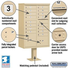 Load image into Gallery viewer, Salsbury 16-Unit (Type III) Pedestal-Mount Cluster Mailbox by Salsbury Industries