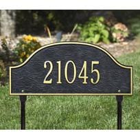 Whitehall Admiral Lawn One Line Address Plaque