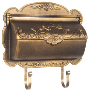 Hummingbird Horizontal Wall Mount Mailbox