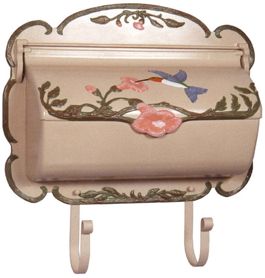 Hummingbird Hand-Painted Horizontal Wall Mount Mailbox