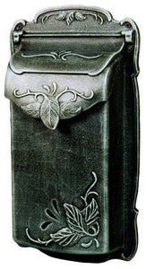 Floral Vertical Wall Mount Mailbox