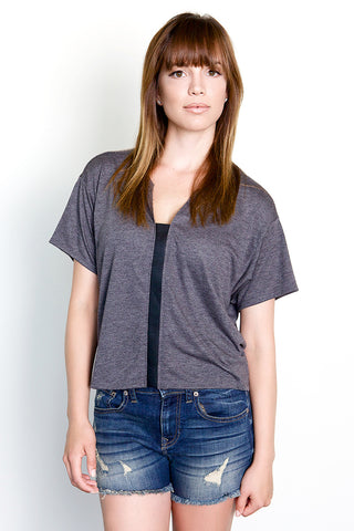 Leather Strip Tee