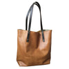 simple leather tote // caramel