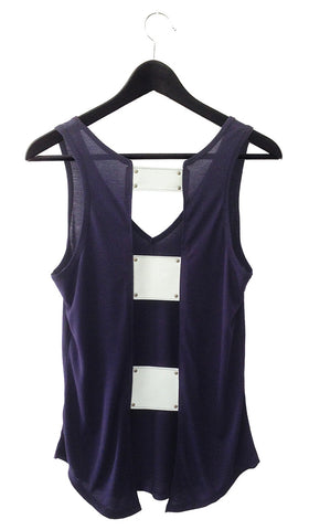 Ladder Back Leather Tank