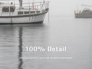 Fine Art Print - Five Boats in Fog