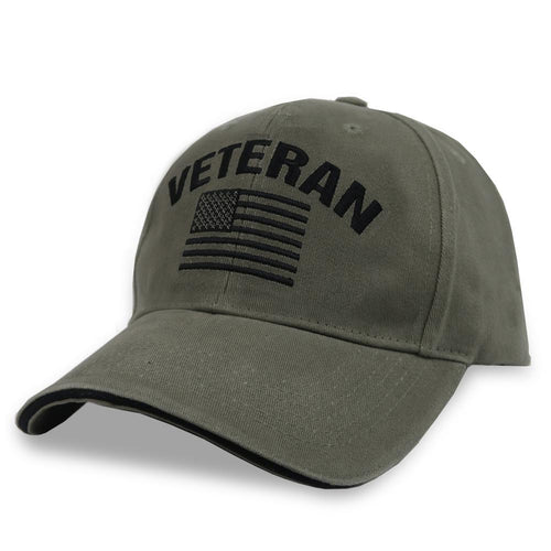 Veteran Flag Hat (OD Green)