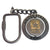 Army Star Spinner Keychain (Nickel)