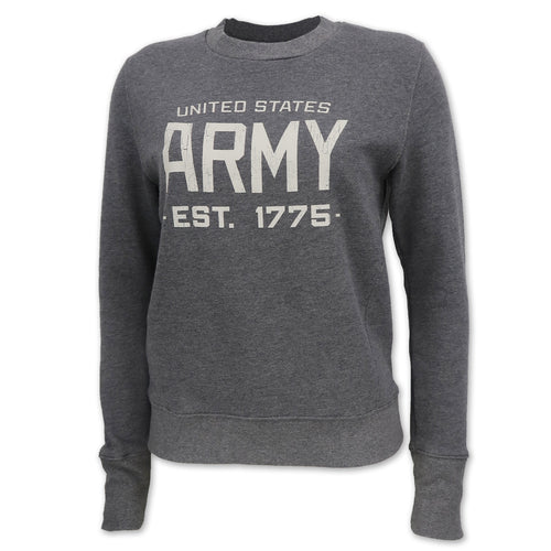 Army Champion Ladies Distressed Crewneck (Grey)