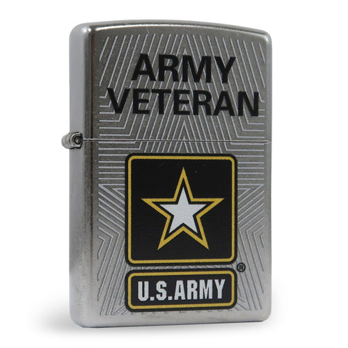 Army Veteran Chrome Zippo Lighter