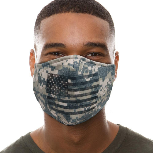 Digital Camo Flag Face Mask-Single or 3 Pack