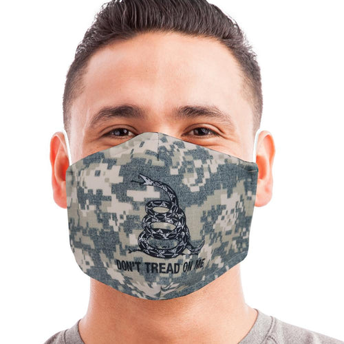 Digital Camo Don't Tread On Me Face Mask-Single or 3 Pack