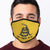 Don't Tread On Me Face Mask (Gold)-Single or 3 Pack