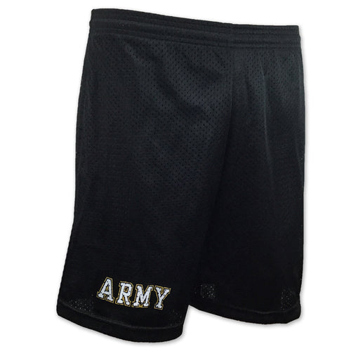 Army Athletic Pocket Mesh Shorts (Black)