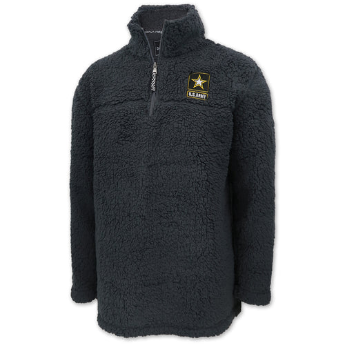 Army Sherpa Quarter Zip Pullover (Charcoal)
