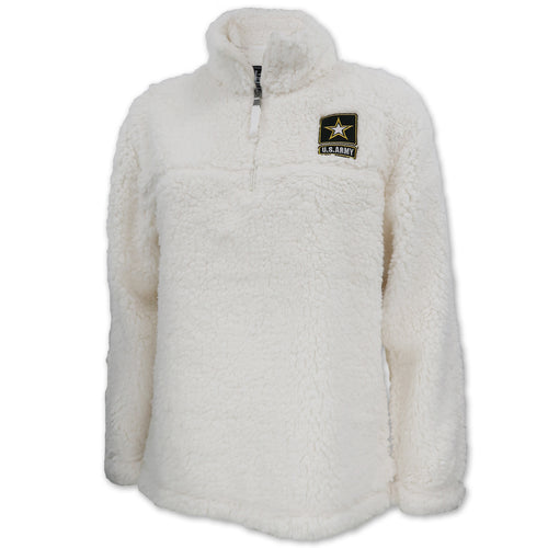 Army Sherpa Quarter Zip Pullover (Natural)