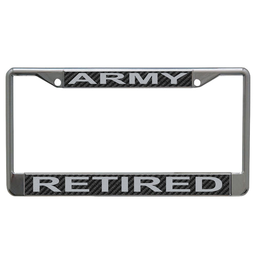 Army Retired License Plate Frame