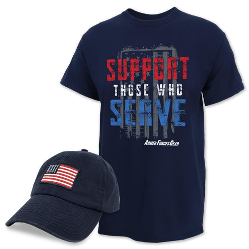 2021 Support Hat & Tee Combo (Navy)